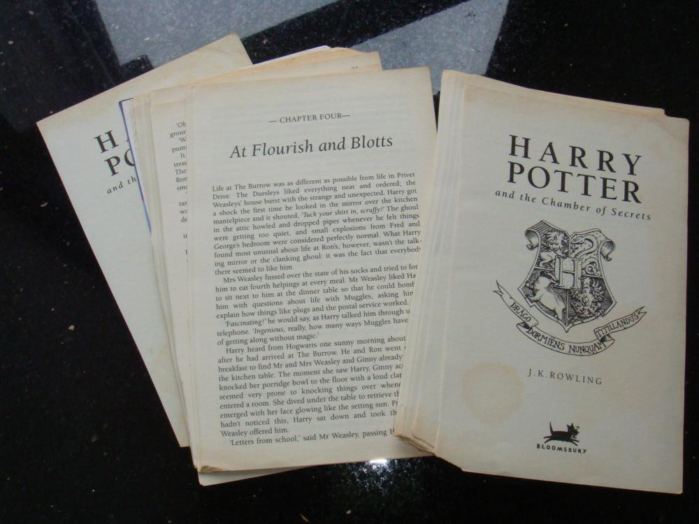 Harry Potter Book Lengths Pages : Book pages harry potter and the chamber of secrets on luulla