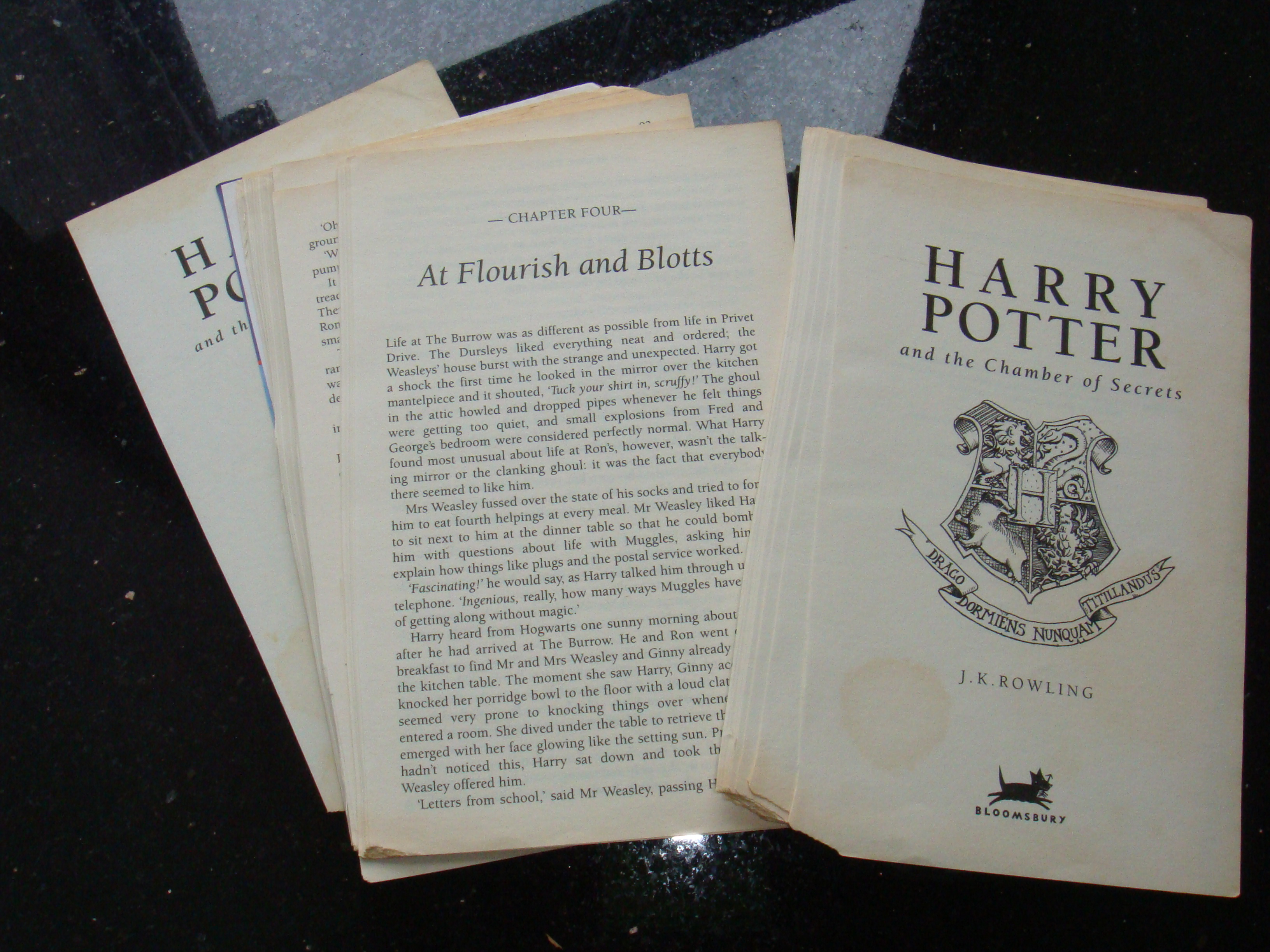 Harry Potter Book Lengths Pages ~ Book pages harry potter and the chamber of secrets on luulla
